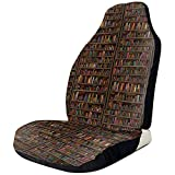 Xiaoyinghua Autositzbezüge Retro Bücherregal Elastischer Schalensitzbezug Universal Fit Die meisten Autos