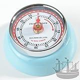 Zassenhaus 72358 Küchentimer - Kitchentimer - Kurzzeitmesser - Eieruhr - Timer Speed - mit Magnet - Retro-Look Ø 7 cm Höhe 3 cm