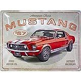Nostalgic-Art Retro Blechschild Ford Mustang – GT 1967 – Geschenk für Auto Zubehör Fans, aus Metall, Vintage-Design zur Dekoration, 30 x 40 cm