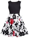 Prinzessin Kinder Blumen Kleid Retro 50er 60er Kleid Audrey Hepburn Kleid 9-10 Jahre CL10600-3