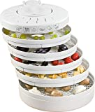 Clatronic DR 2751 Dörrautomat (250 Watt, trocknet Obst, Gemüse, Kräuter, Fleisch und mehr, 5 stapelbare Ebenen) weiß