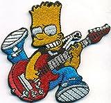 Bart Simpson Rocker Band Rockabilly Heavy Metal Biker Aufnäher Patch Aufbügler