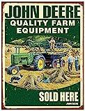 Hunnry John Deere Farm Equipment Poster Metall Blechschilder Retro Dekoration Schild Aluminium Blechwaren Vintage Wandkunstplakat Zum Cafe Bar Wohnzimmer Zuhause