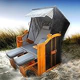 BRAST Strandkorb Premium Ostsee Sonneninsel Poly-Rattan XXL