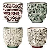Bloomingville Becher Karine, mehrere Farben, Keramik