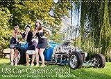 US Car Classics 2021 - Klassische amerikanische Autos und PinUp Girls (Wandkalender 2021 DIN A3 quer)
