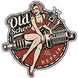 Finest-Folia Retro Vintage Aufkleber Sticker Old School Ace Kult Rockabilly (#22 Spark Plug)