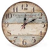 LOHAS Home 12 Zoll/30CM Holz Wanduhr/Kchenuhr im Landhausstil Stille Nicht-tickende fr die Kche,Home Office, Wohnzimmer und Schlafzimmer (Victor Hugo)