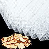 6 Stücke Quadratische Silikon Dehydrator Blätter Antihaft Lebensmittel Obst Dehydrator Matten Wiederverwendbare Dampfgarer Netz Backmatte für Obst Trockner