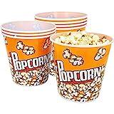 com-four® 8X Popcorn Eimer, Popcornschüssel mit einem Fassungsvermögen von je 2,8 Litern (08 Stück)
