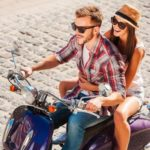 Motorroller im Retrolook